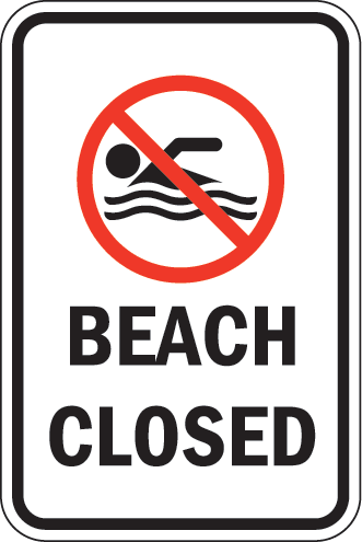 closed-beach